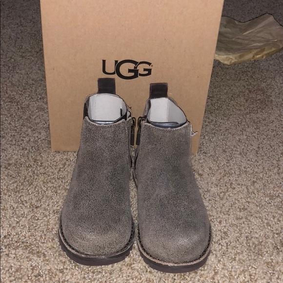 c45a439e937 NIB Toddler Boys Ugg T Callum Bomber Boot Size 9 NWT